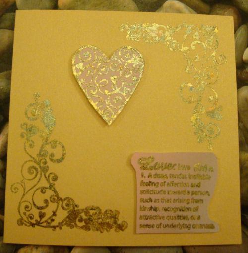 Gilded heart card 2