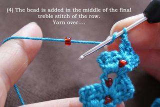 4uk  yarn over at start of treble web
