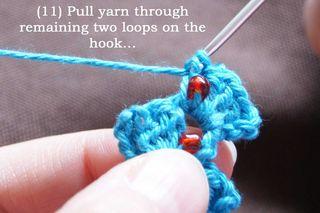 11 pull yarn thro remaining loops web