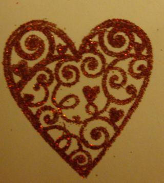 Glittered heart