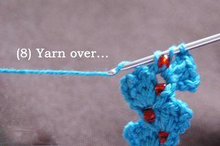 8 yarn over web