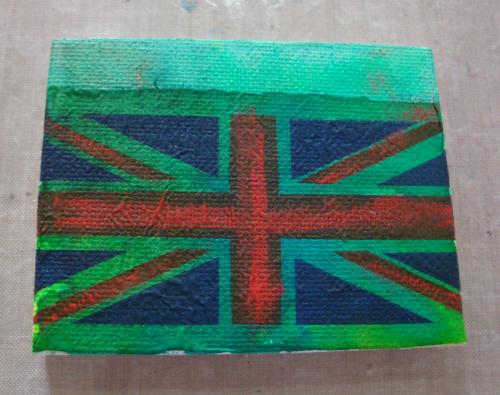Tissue Union Jack on canvas resized