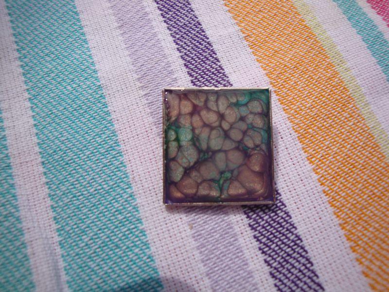 Pebeo fantasy paints brooch