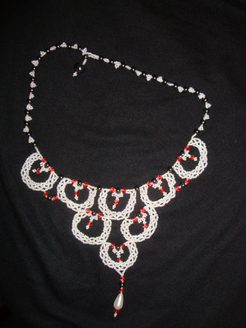 Scalloped lace necklace Jan 10