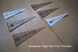 Free Printable Scrapbook Flags finished web