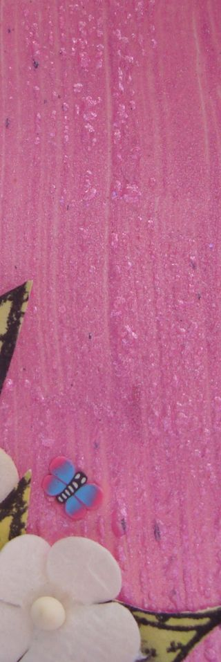 Close up of section showing blistered paint resized