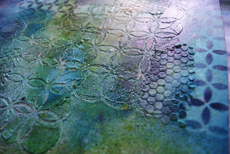 July 2012 Skissedilla texture paste and misted background web