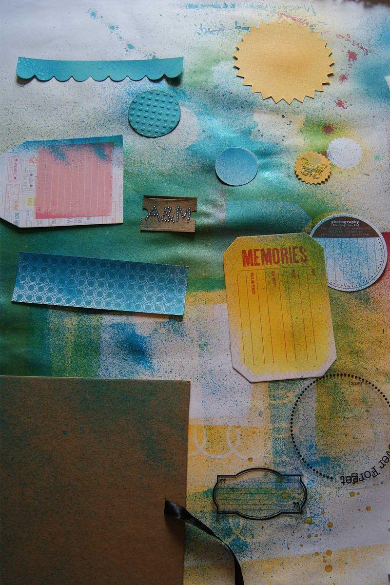 Travel journal sprayed pieces web
