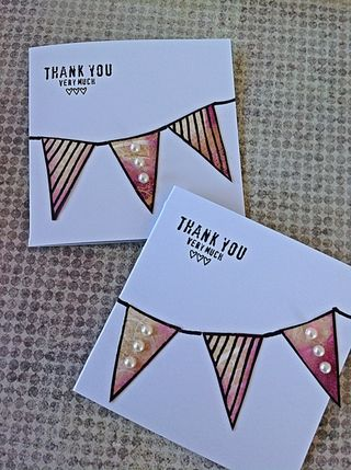 Thank you bunting cards