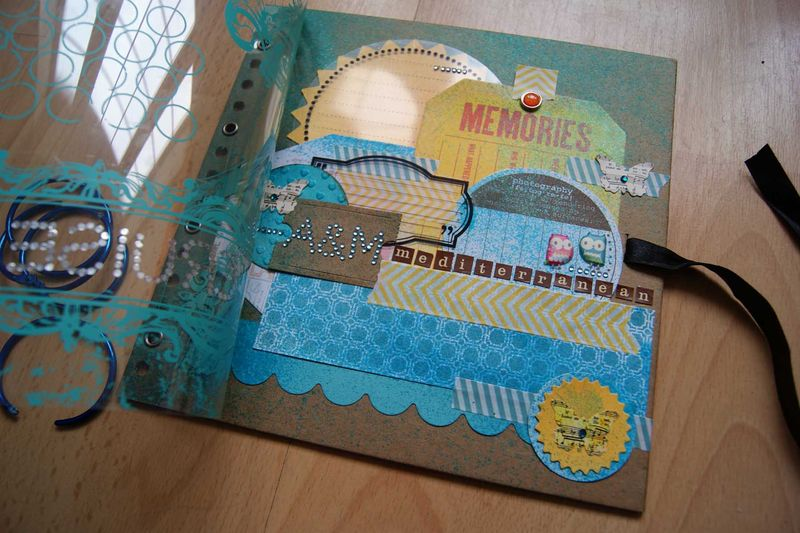Travel journal finished cover opened transparency web