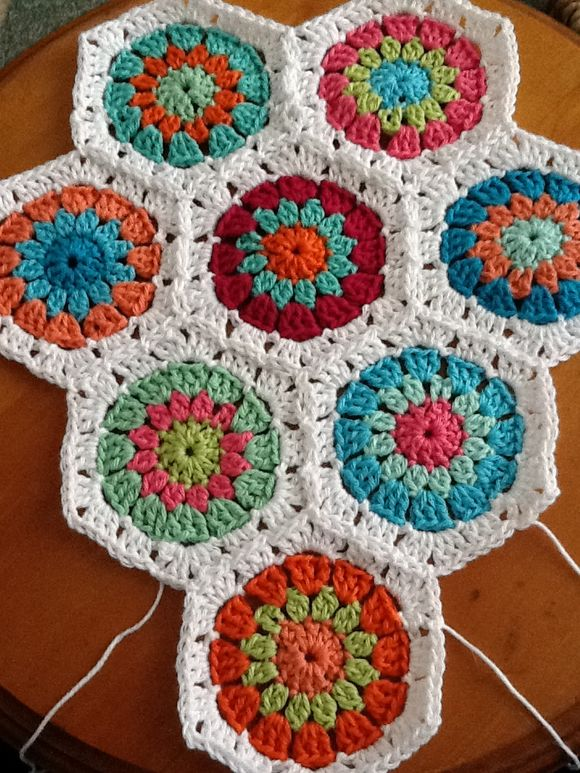 A crochet blanket for a baby
