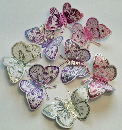 Glittered-butterflies