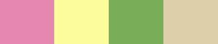 Cottage garden colour palette