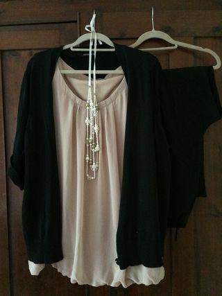 Caspule wardrobe outfit for work