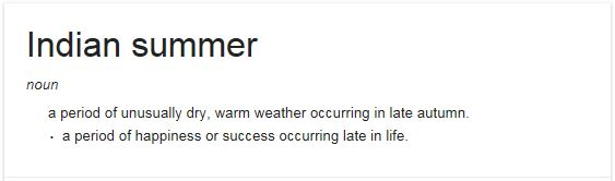 Indian summer definition