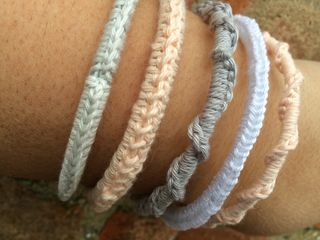 Covered bangles close up 2