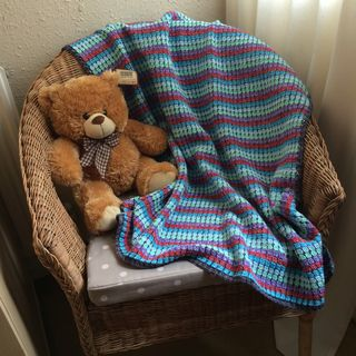 Jo baby blanket finished