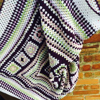 Purple blanket open