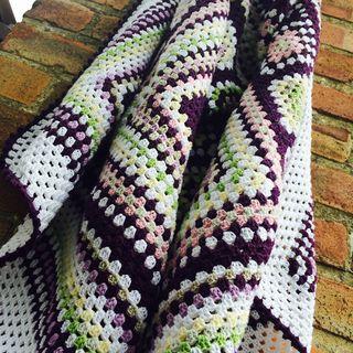 Purple blanket hanging