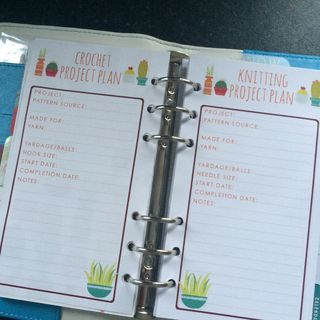K&C planner project page blank