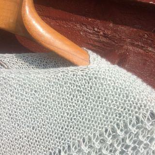 Rosewater shawl edge