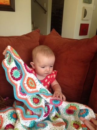 Jorja with blanket