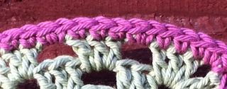 Bunting close up of dc edging
