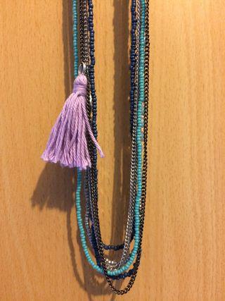 Boho necklace close up
