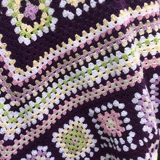 Purple blanket close up