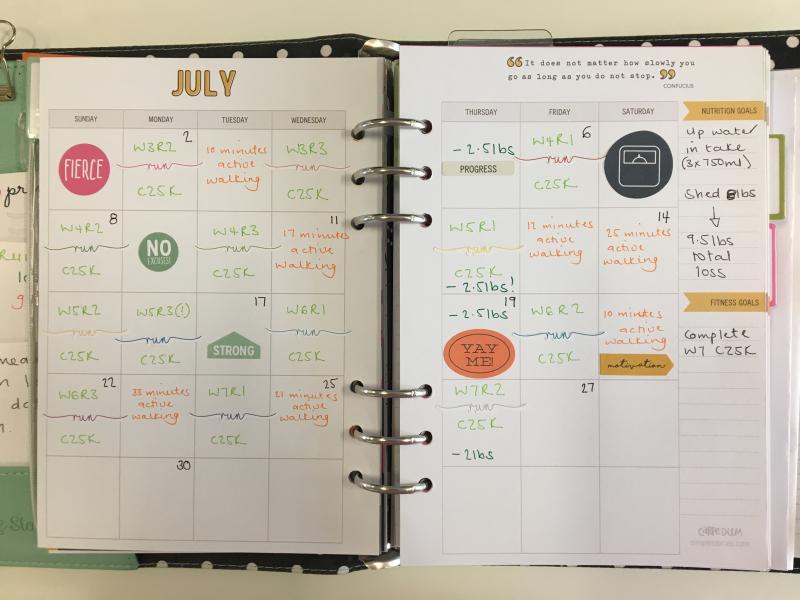 Fitness planner update 1